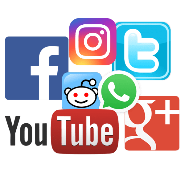 social media platforms like Youtube, Facebook