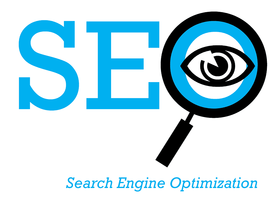 search engine optimisation with a magnifying glass