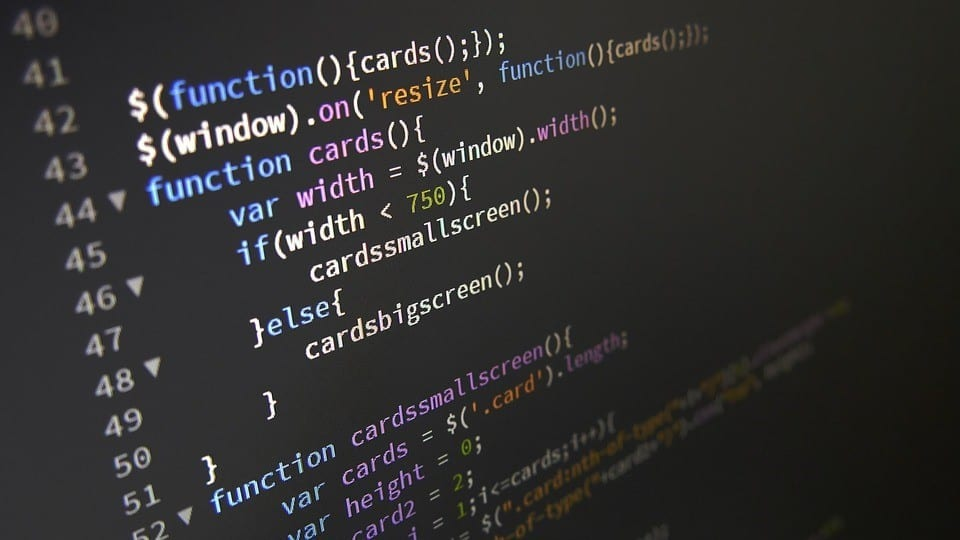 front-end website code in JavaScript