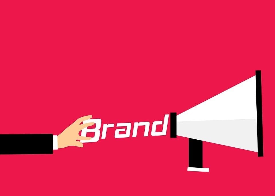 illustration of a brand with a loudspeaker