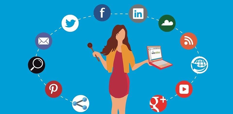 digital marketer targets different online platforms