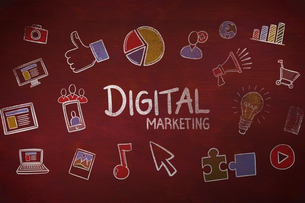 image elements related to digital marketing