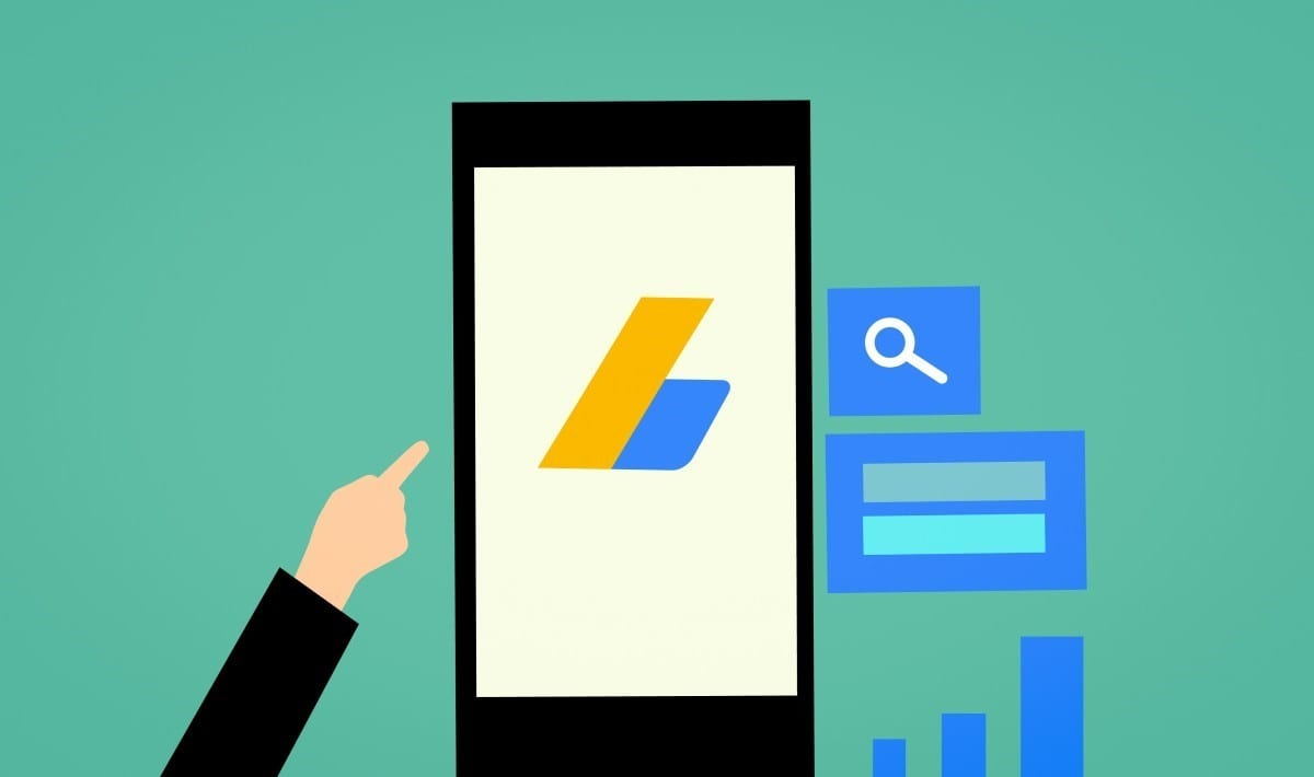 Google Ads logo on a mobile screen