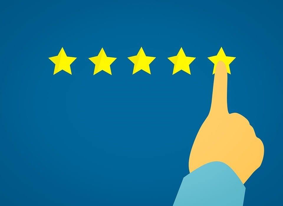 customer giving a 5-star rating