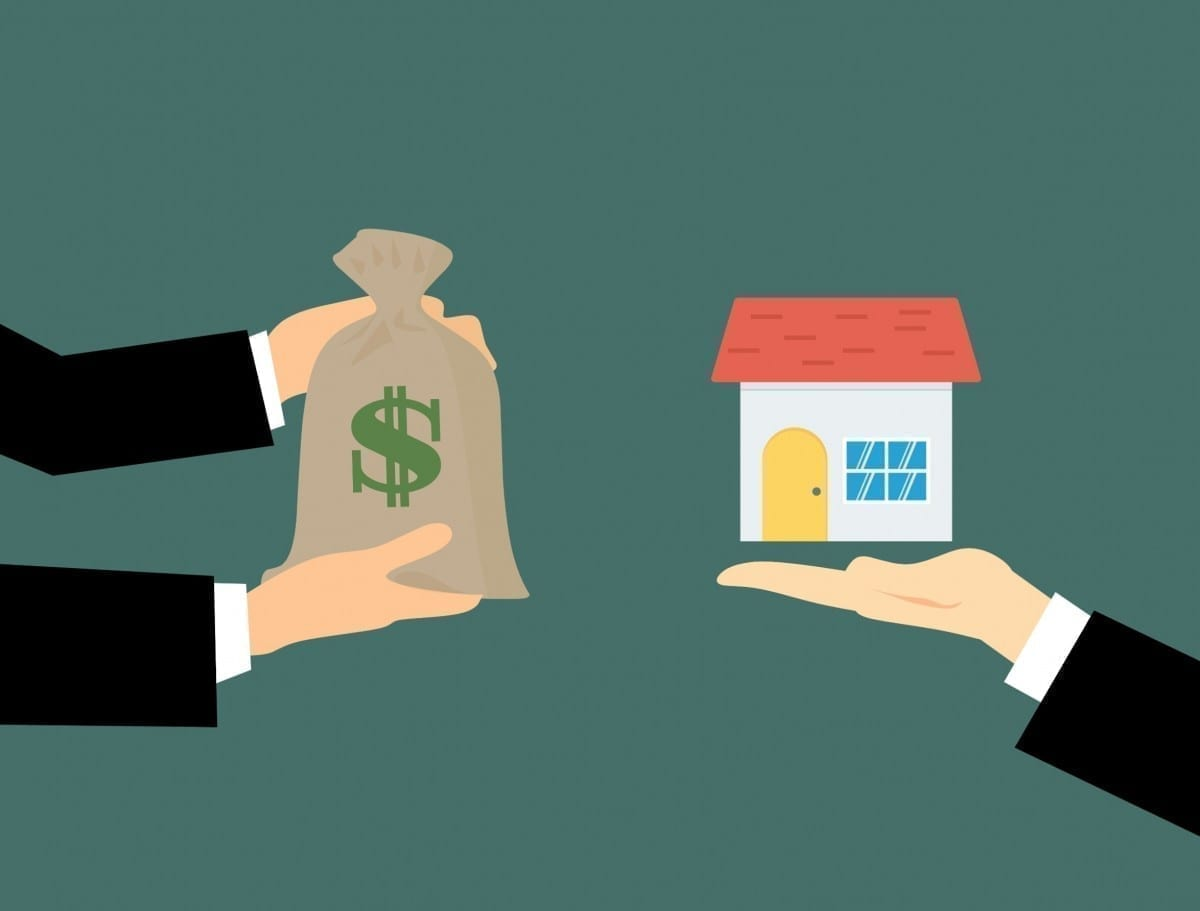 A business transaction for the purchase of a home