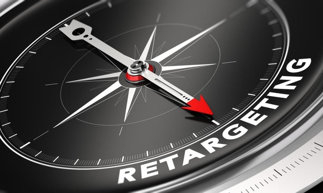 compass needle pointing to the word retargeting