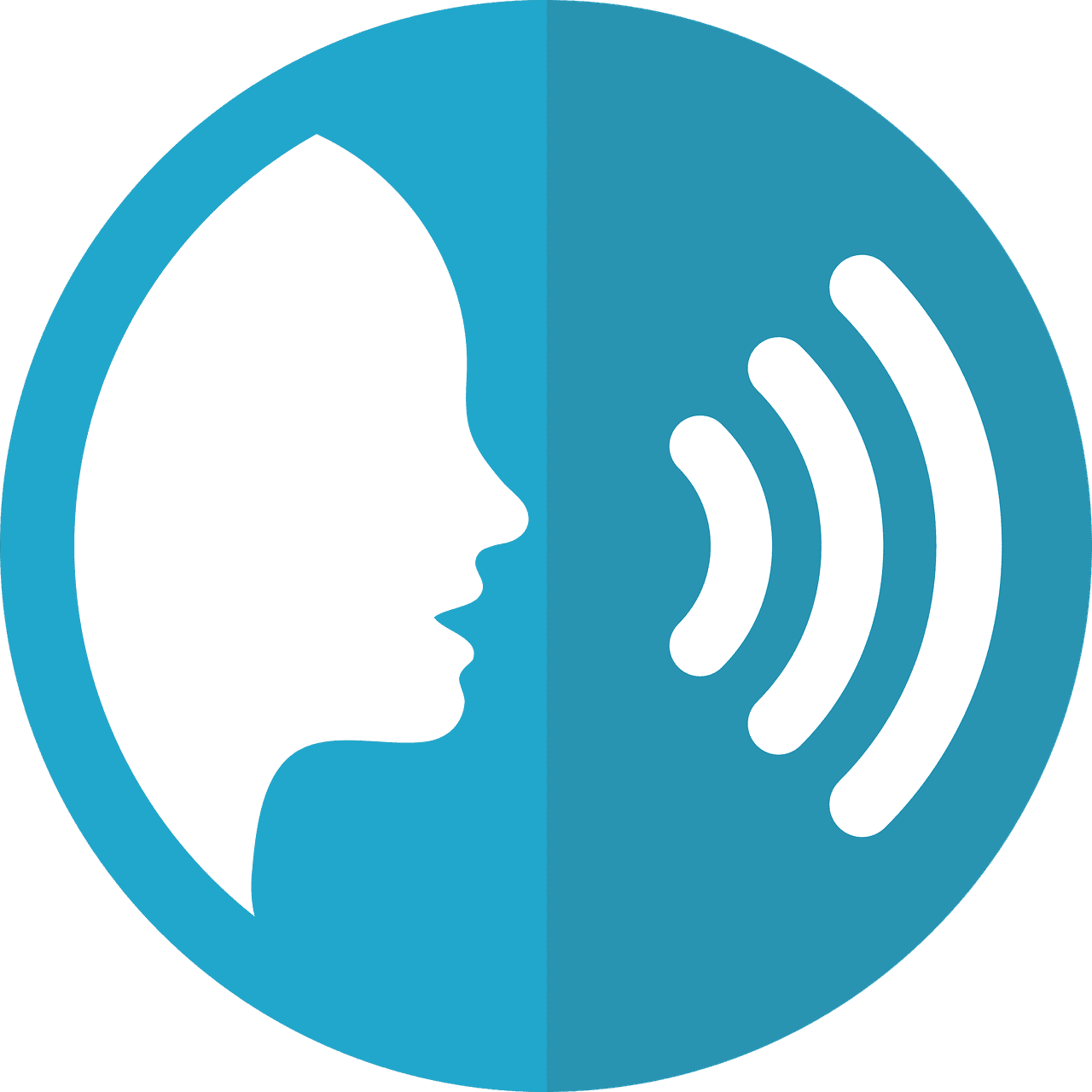A person speaking through voice search
