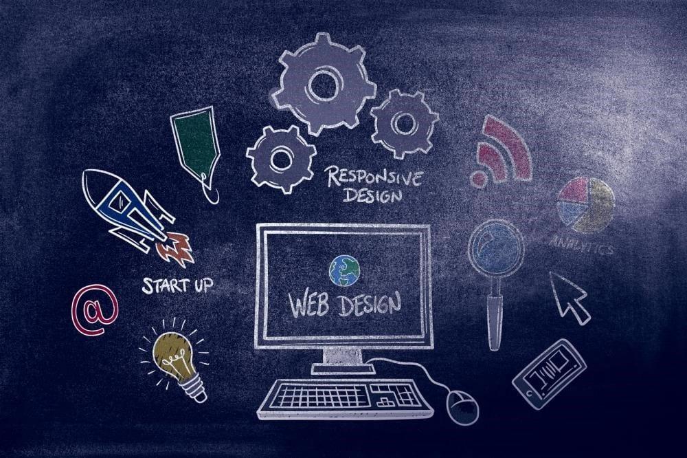 web design in black background