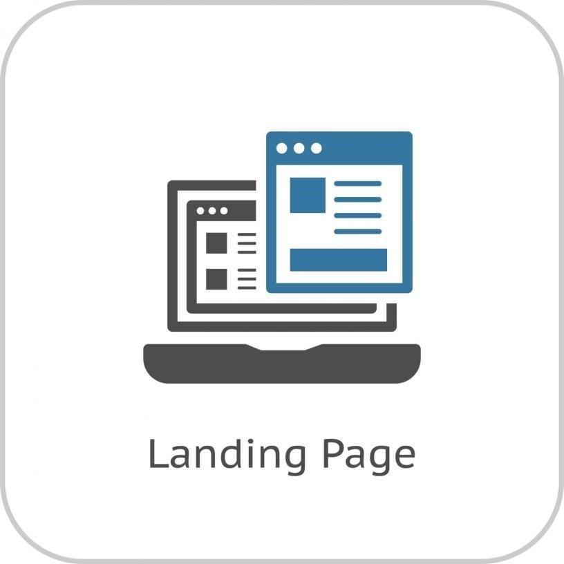 landing page representation