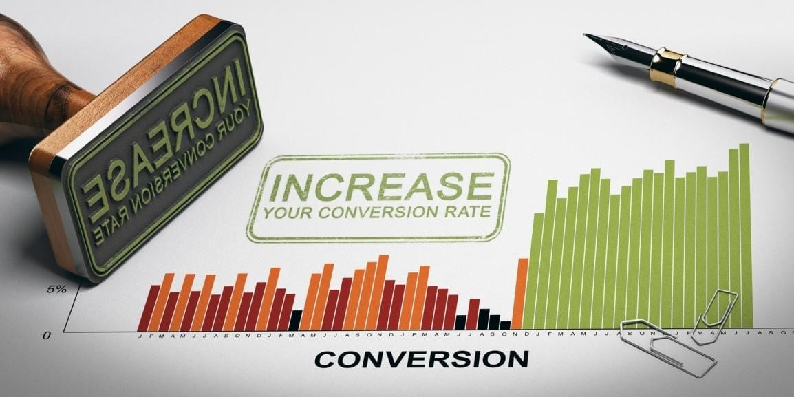 graph about conversion rate