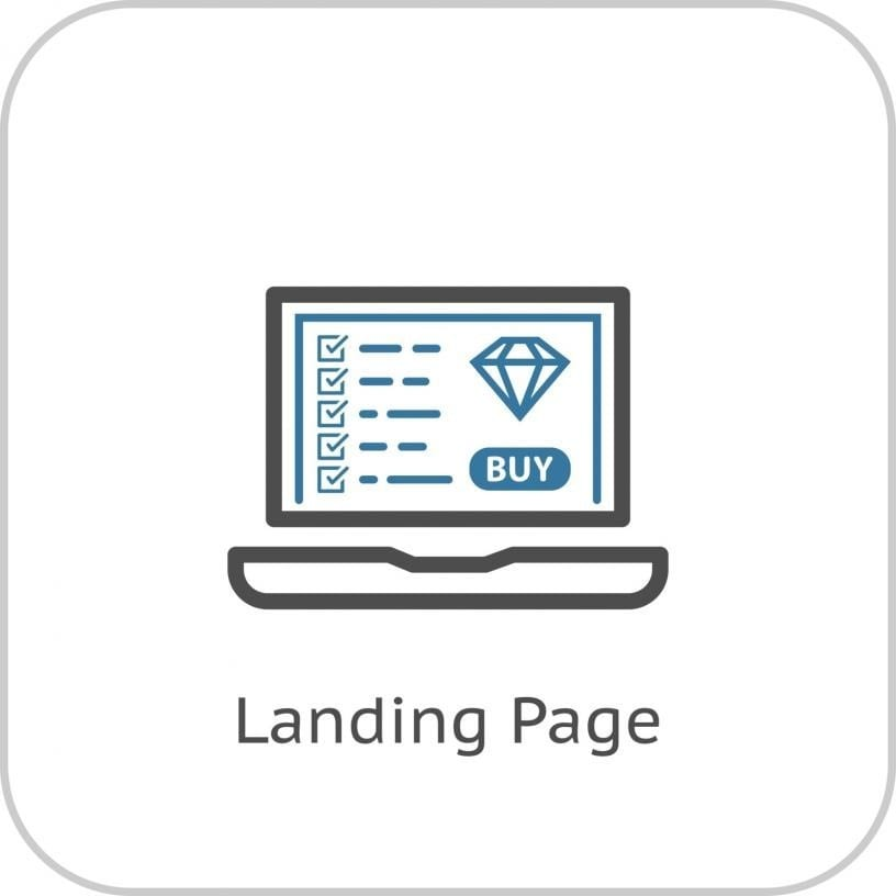 landing page with a buying offer