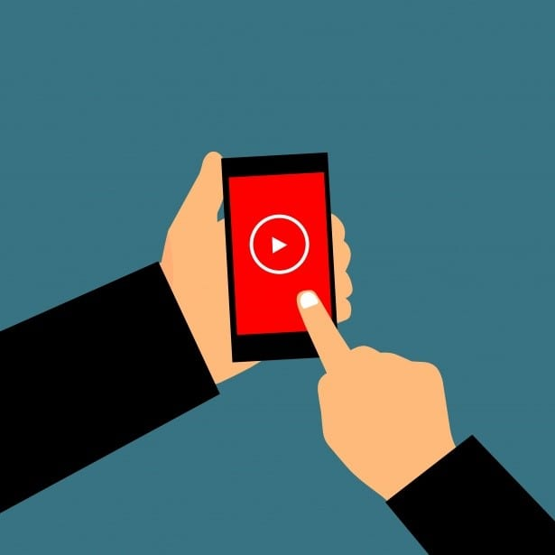 a user is playing a video on mobile